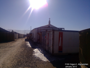 Afghanistan-chapel-on-us-military-FOB-Orgun-E-with-illegal-christian-steeple